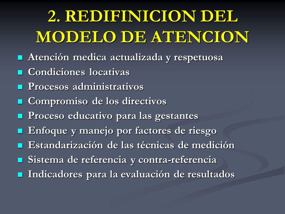 2. REDIFINICION DEL MODELO DE ATENCION