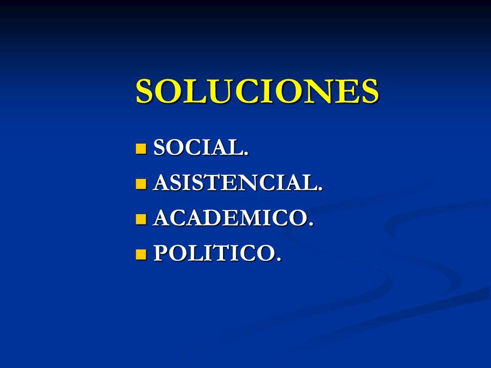 SOLUCIONES SOCIAL. ASISTENCIAL. ACADEMICO. POLITICO.