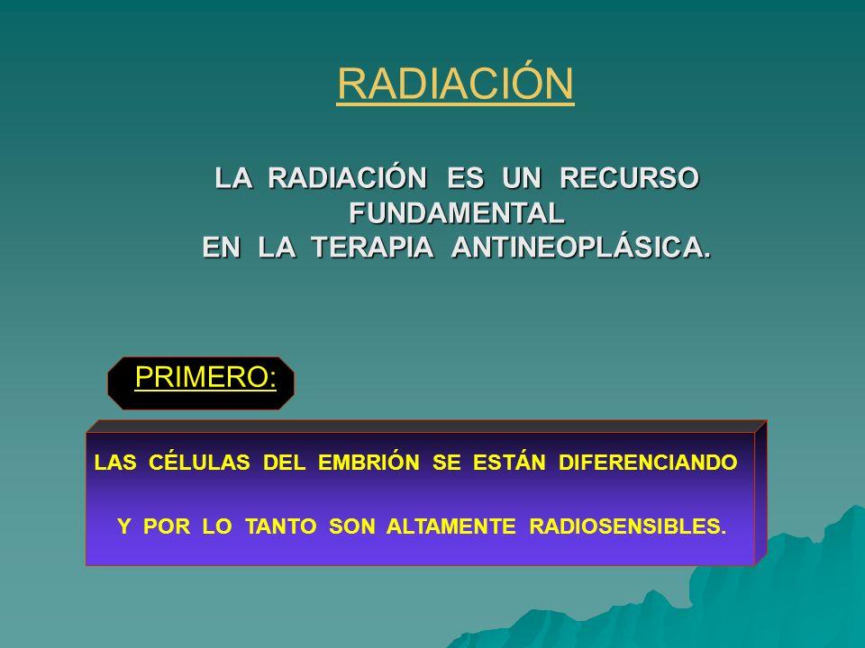RADIACIÓN LA RADIACIÓN ES UN RECURSO FUNDAMENTAL