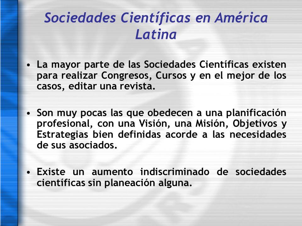 Sociedades Científicas en América Latina