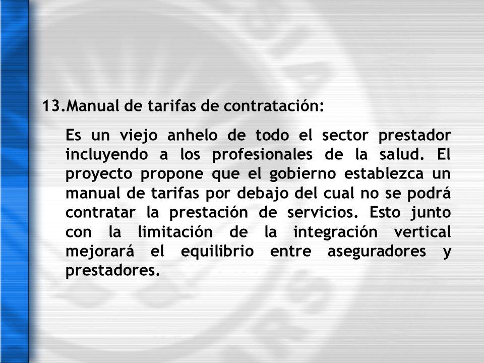 13.Manual de tarifas de contratación: