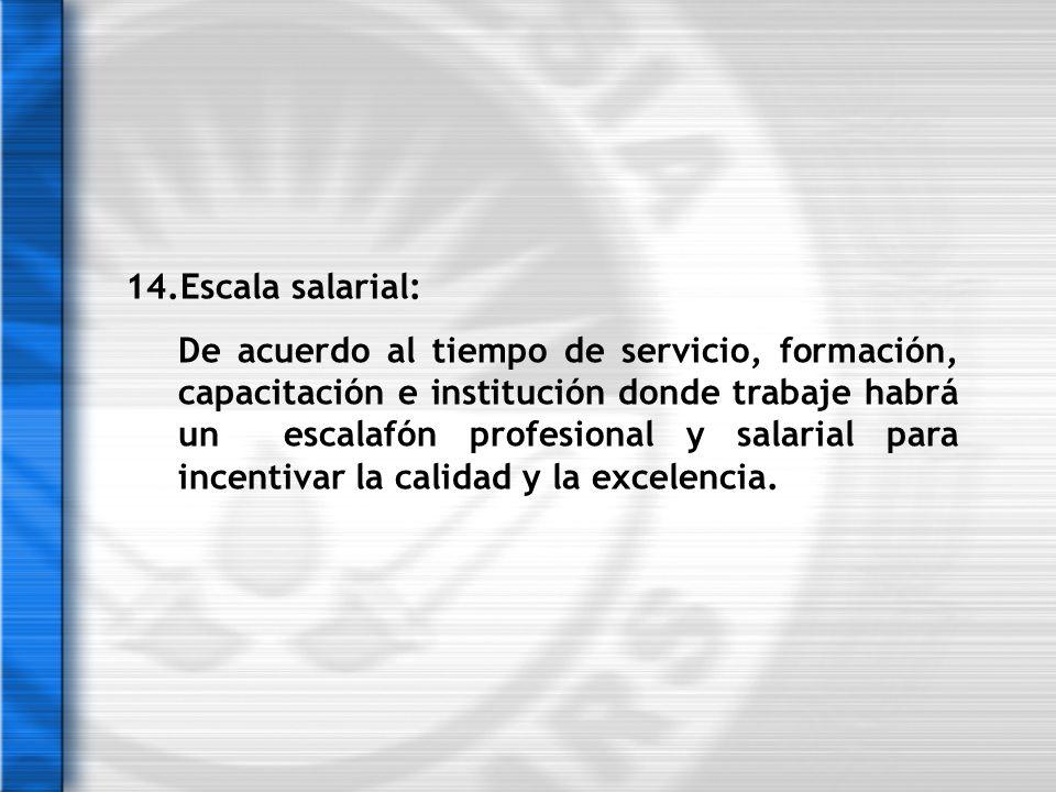14.Escala salarial:
