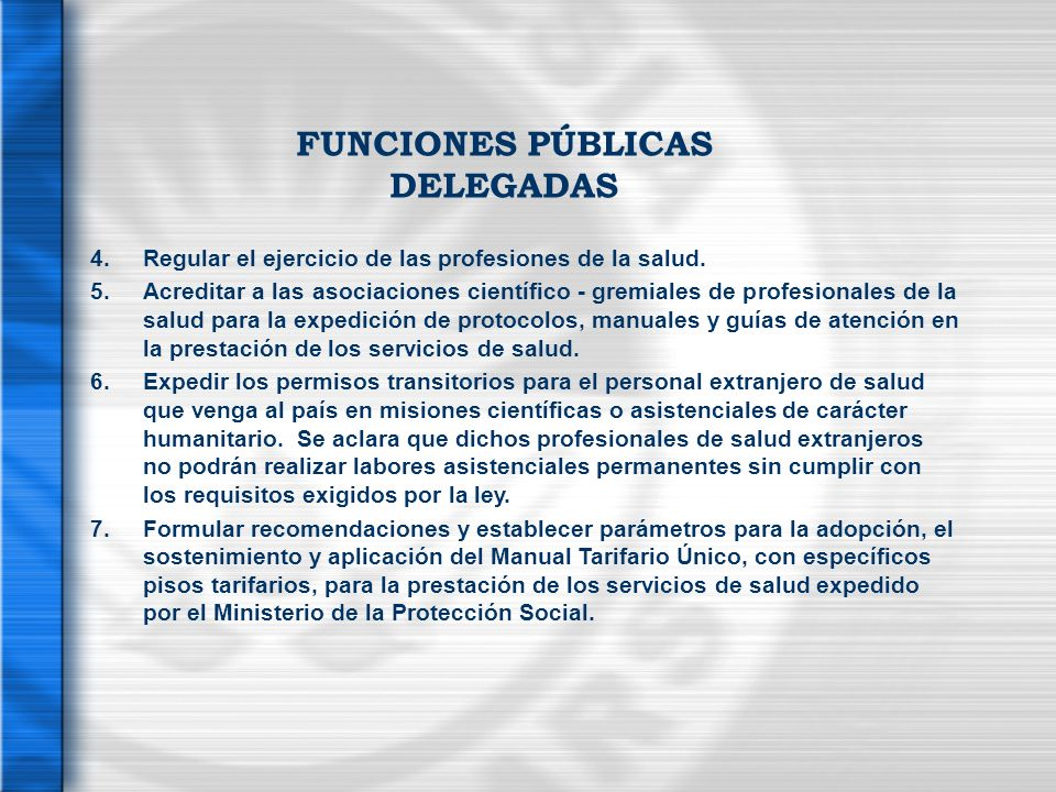 FUNCIONES PÚBLICAS DELEGADAS