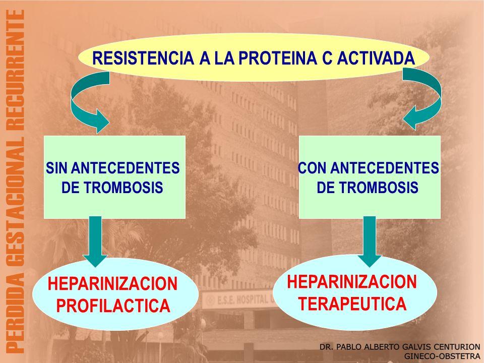 RESISTENCIA A LA PROTEINA C ACTIVADA
