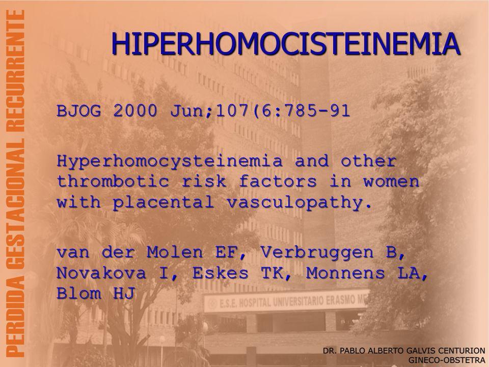 HIPERHOMOCISTEINEMIA