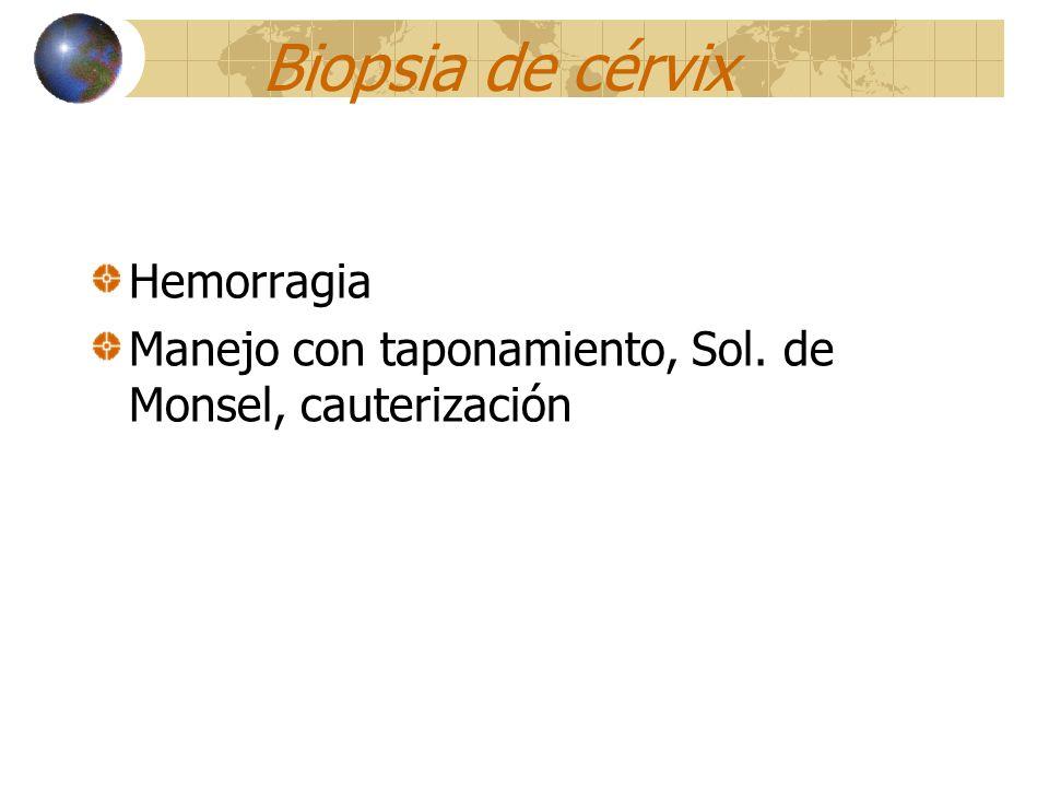 Biopsia de cérvix Hemorragia