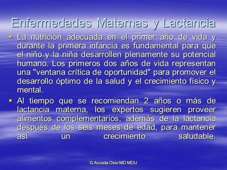 Enfermedades Maternas y Lactancia