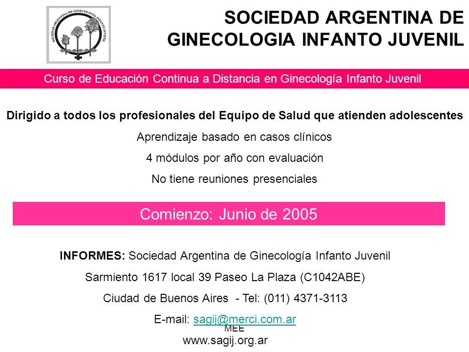 SOCIEDAD ARGENTINA DE GINECOLOGIA INFANTO JUVENIL