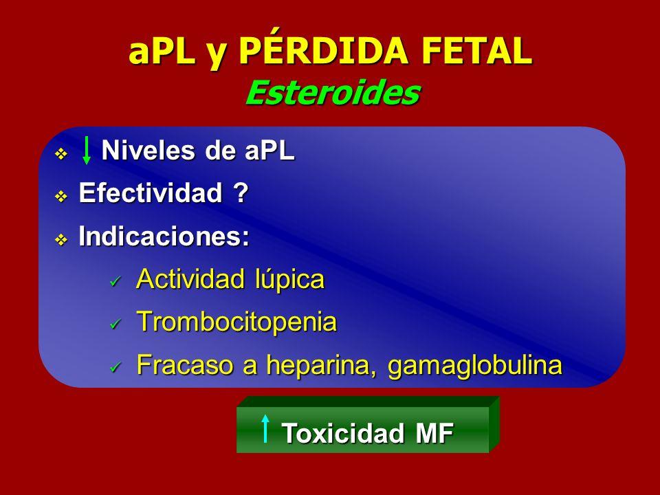 aPL y PÉRDIDA FETAL Esteroides