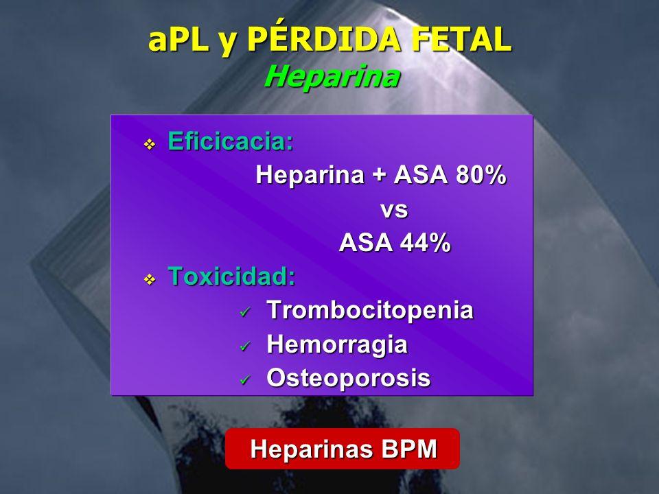 aPL y PÉRDIDA FETAL Heparina