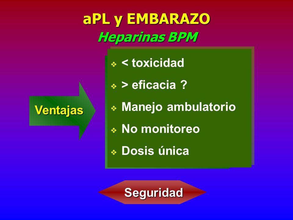 aPL y EMBARAZO Heparinas BPM