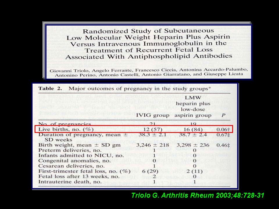 Triolo G. Arthritis Rheum 2003;48:728-31