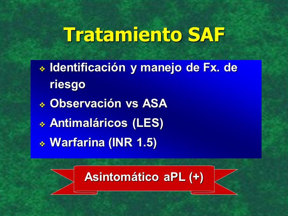 Tratamiento SAF Identificación y manejo de Fx. de riesgo