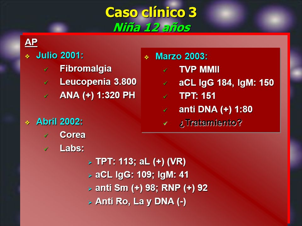 Caso clínico 3 Niña 12 años AP Julio 2001: Fibromalgia Marzo 2003: