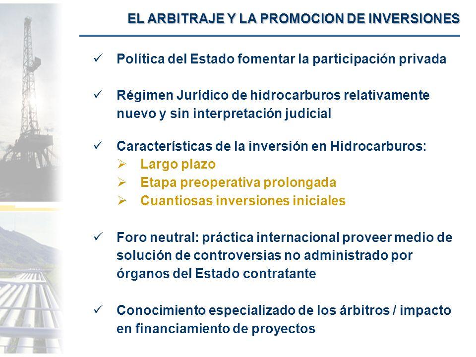 EL ARBITRAJE Y LA PROMOCION DE INVERSIONES