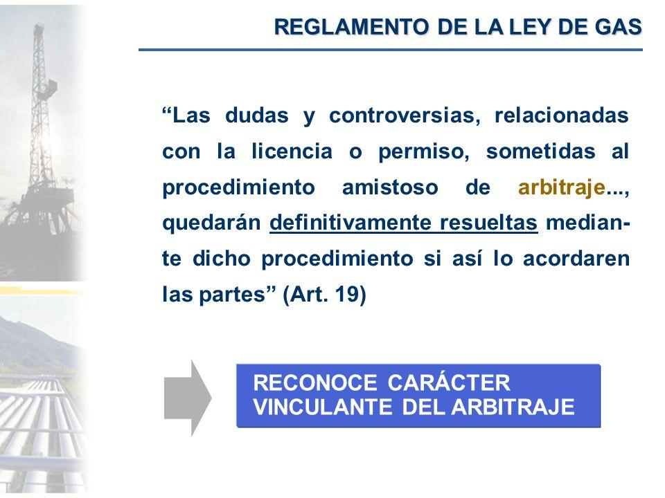 REGLAMENTO DE LA LEY DE GAS