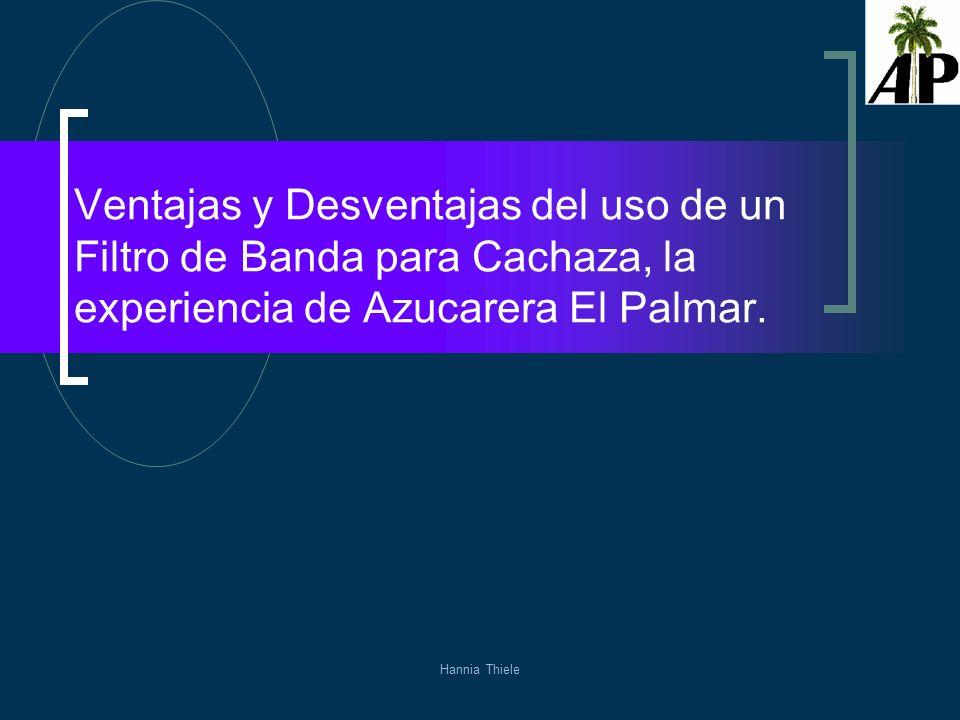 Ventajas y Desventajas del uso de un Filtro de Banda para Cachaza, la experiencia de Azucarera El Palmar.
