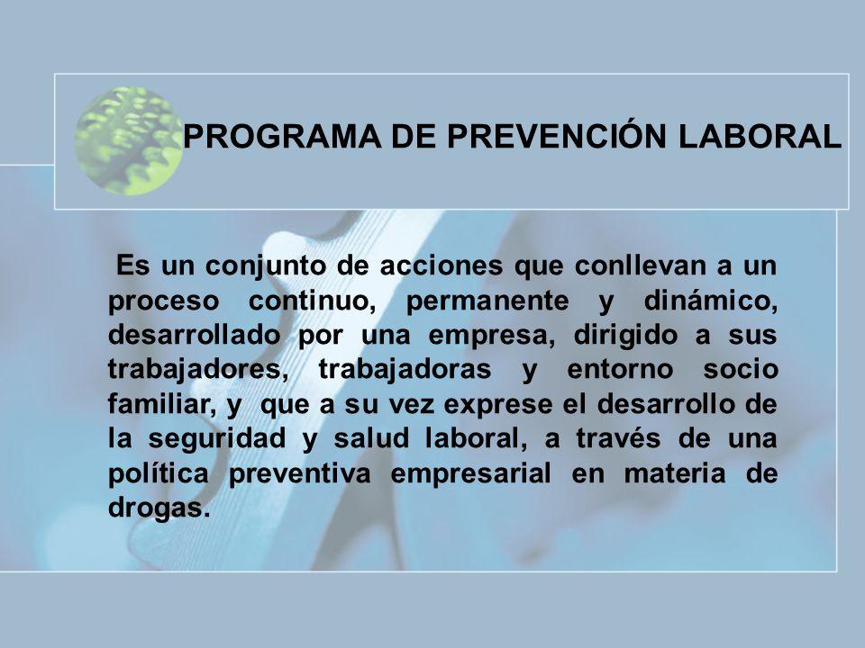 PROGRAMA DE PREVENCIÓN LABORAL