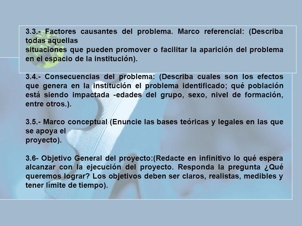 3. 3. - Factores causantes del problema