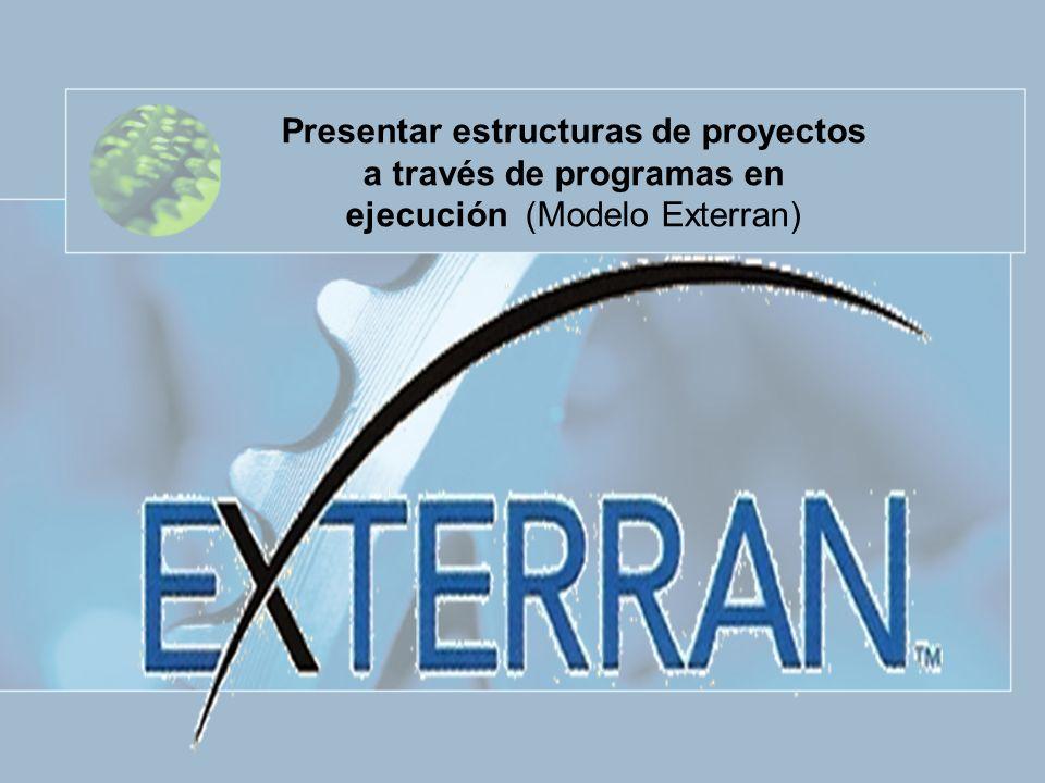Presentar estructuras de proyectos a través de programas en ejecución (Modelo Exterran)