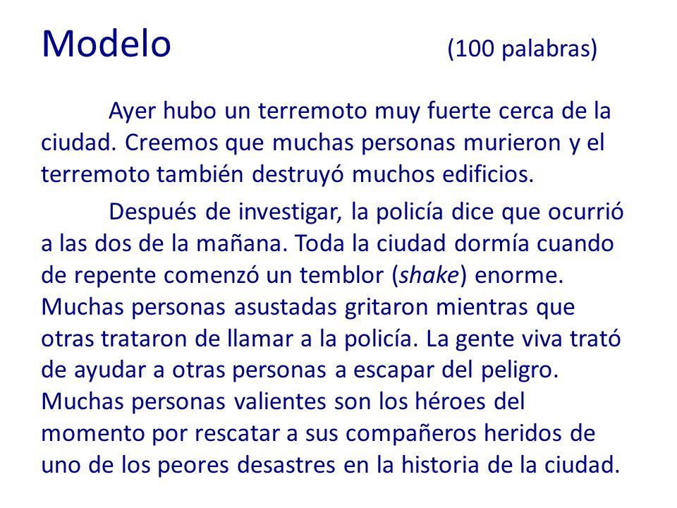 Modelo (100 palabras)