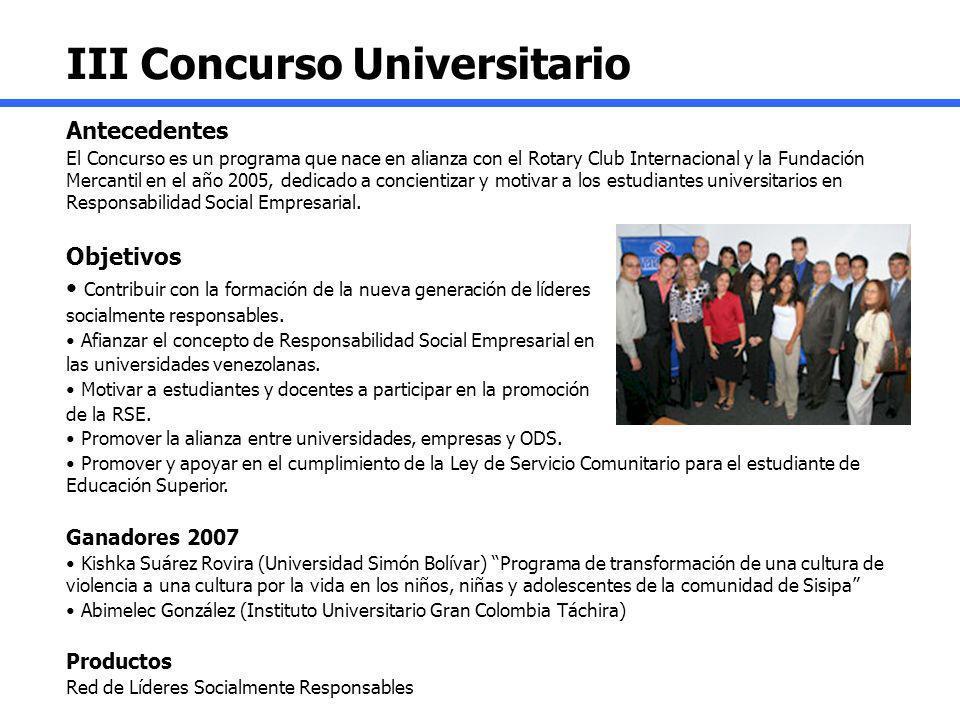 III Concurso Universitario