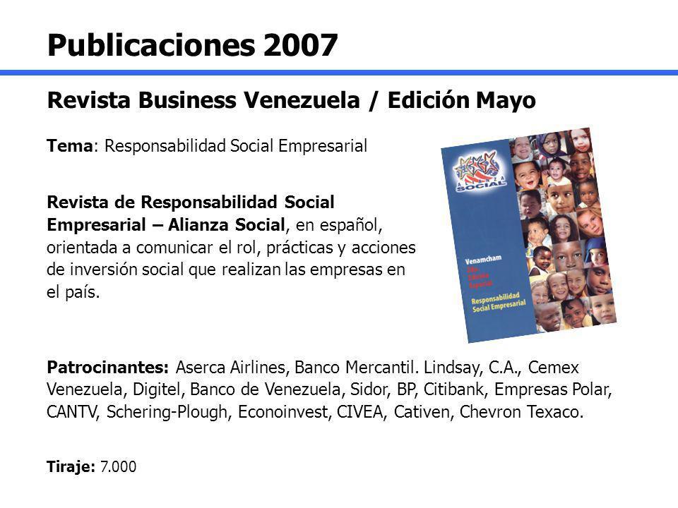 Publicaciones 2007 Revista Business Venezuela / Edición Mayo