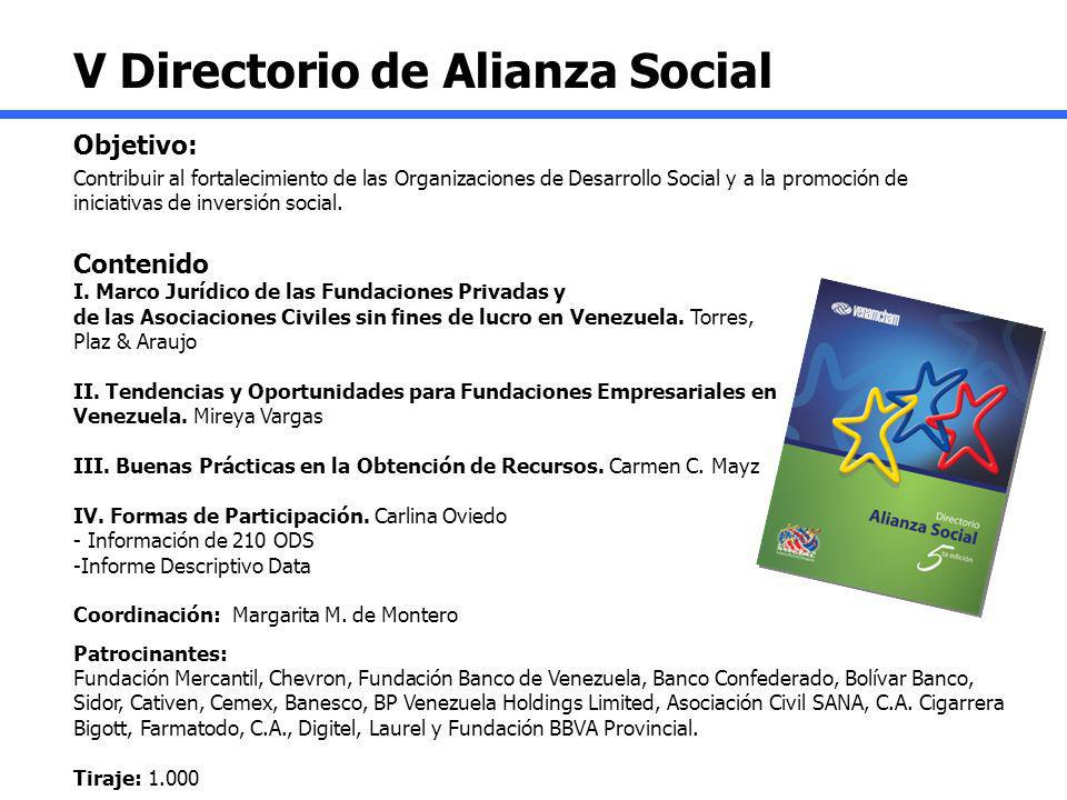 V Directorio de Alianza Social