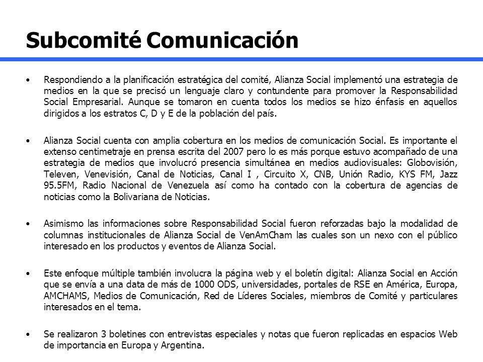 Subcomité Comunicación