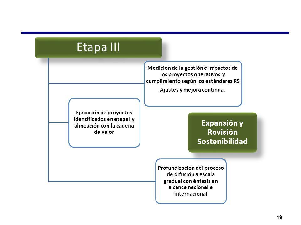Ajustes y mejora continua. Expansión y Revisión Sostenibilidad