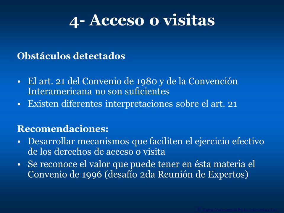 4- Acceso o visitas Obstáculos detectados