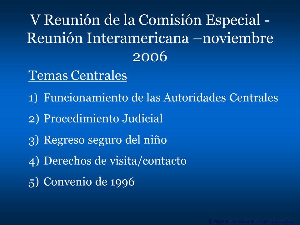 V Reunión de la Comisión Especial - Reunión Interamericana –noviembre 2006