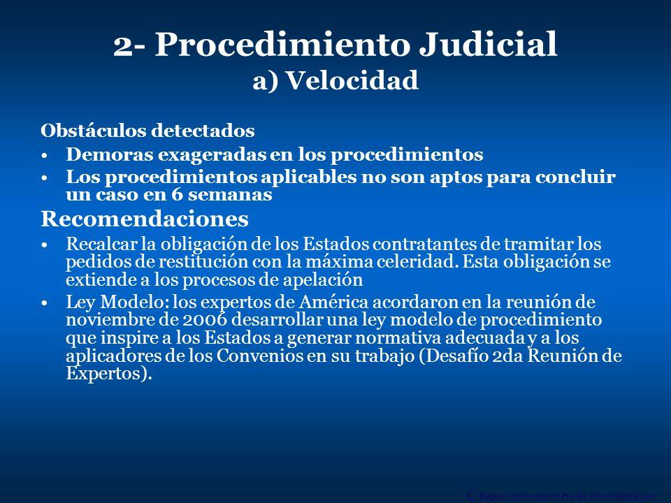 2- Procedimiento Judicial a) Velocidad
