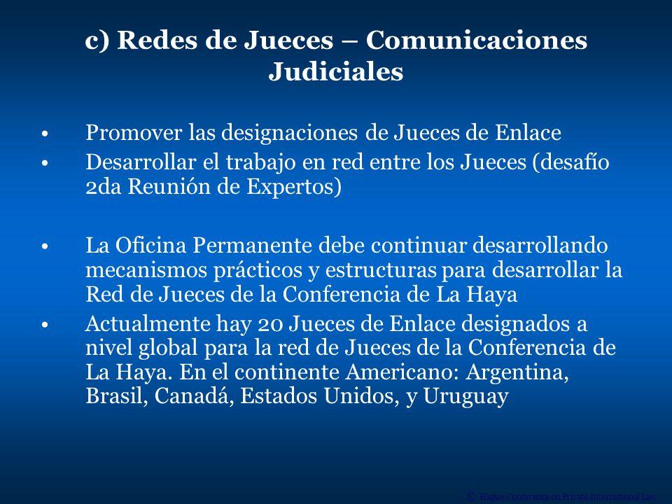 c) Redes de Jueces – Comunicaciones Judiciales