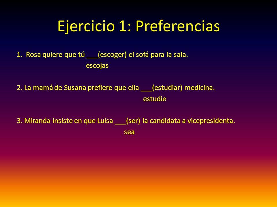 Ejercicio 1: Preferencias