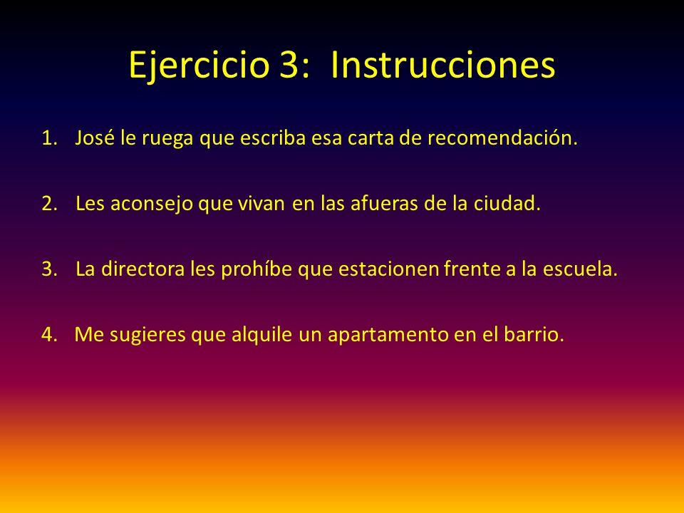 Ejercicio 3: Instrucciones