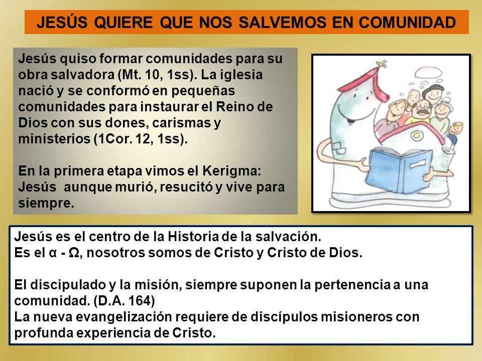JESÚS QUIERE QUE NOS SALVEMOS EN COMUNIDAD
