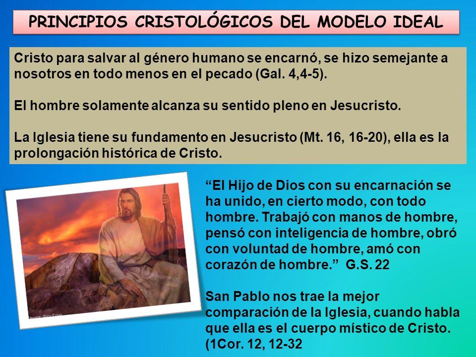 PRINCIPIOS CRISTOLÓGICOS DEL MODELO IDEAL