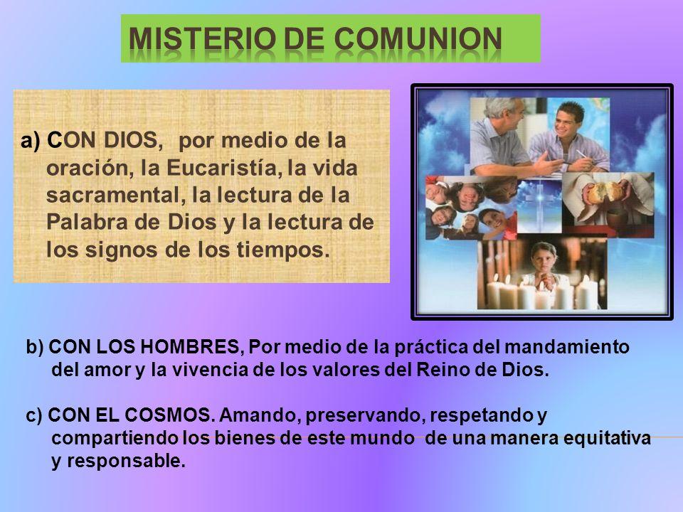MISTERIO DE COMUNION