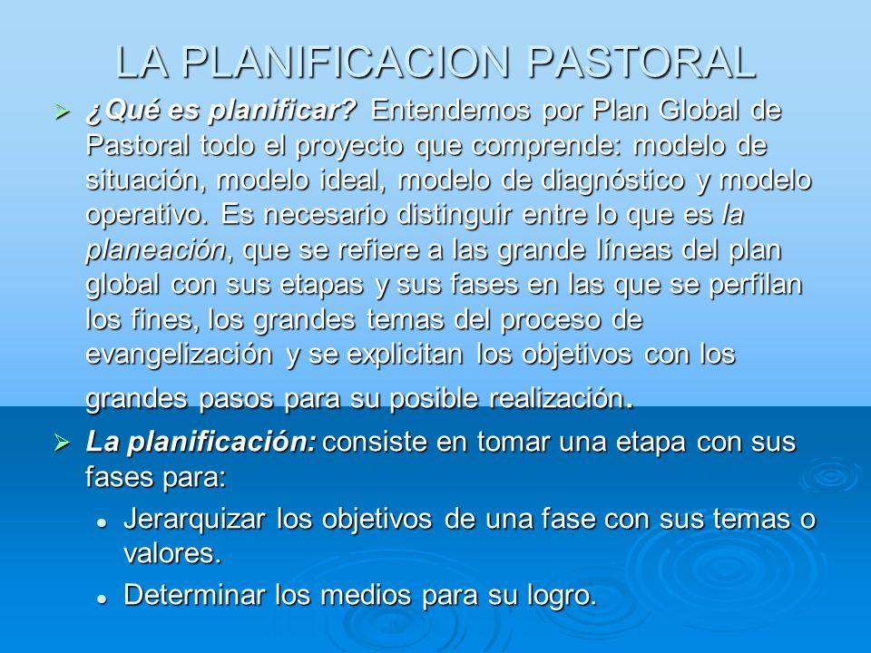 LA PLANIFICACION PASTORAL