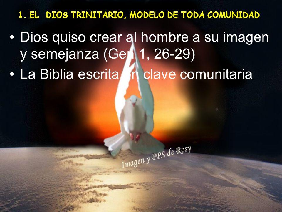 Dios quiso crear al hombre a su imagen y semejanza (Gen 1, 26-29)