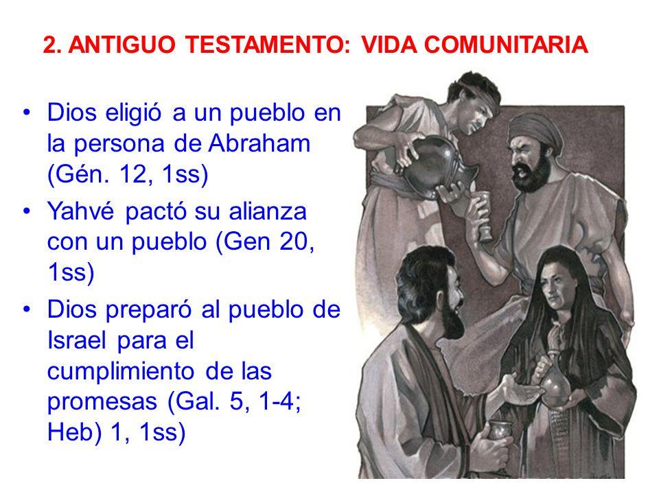 Dios eligió a un pueblo en la persona de Abraham (Gén. 12, 1ss)