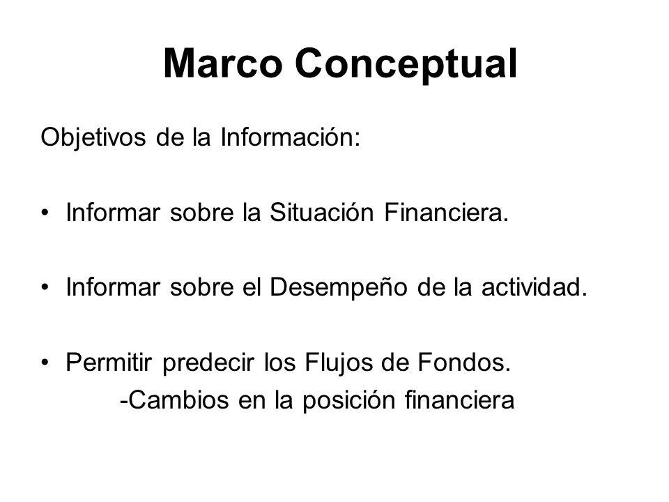 Marco Conceptual Objetivos de la Información: