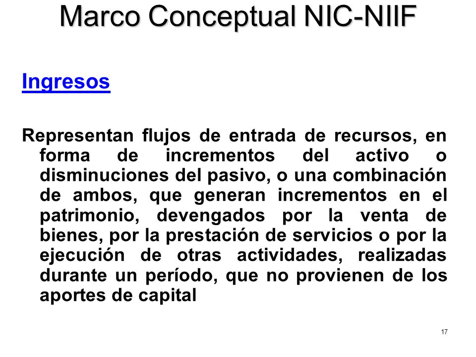 Marco Conceptual NIC-NIIF