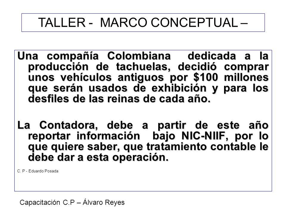 TALLER - MARCO CONCEPTUAL –