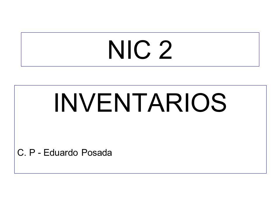 NIC 2 INVENTARIOS C. P - Eduardo Posada