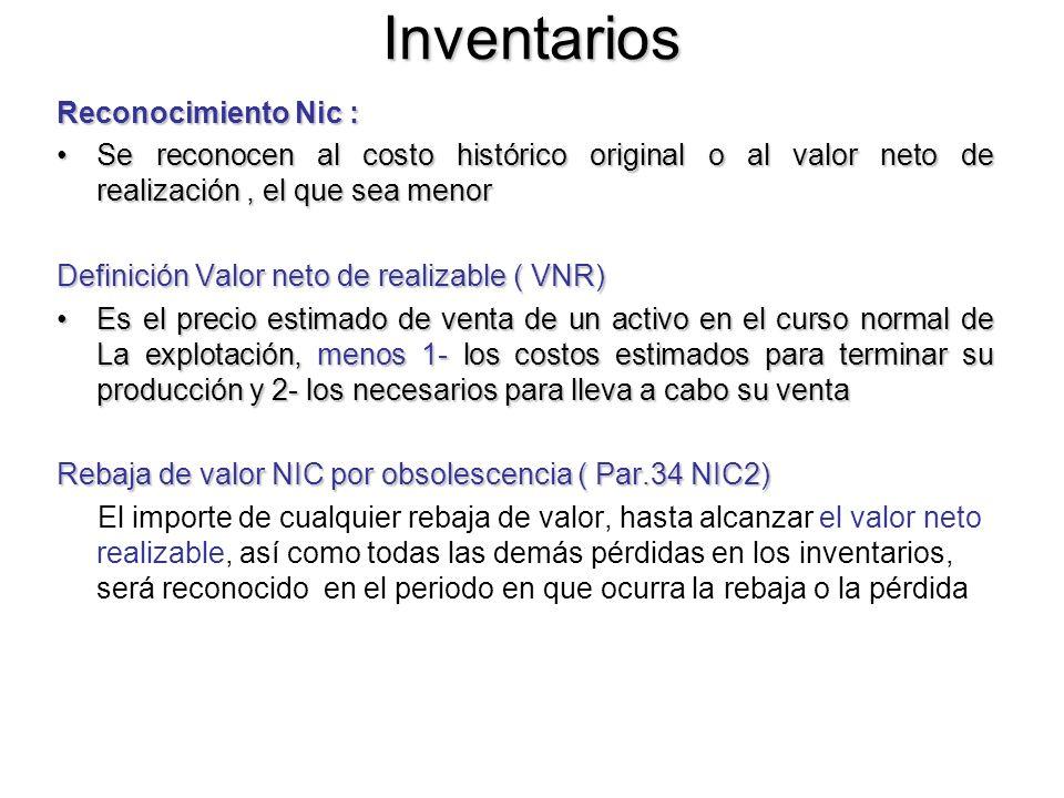 Inventarios Reconocimiento Nic :