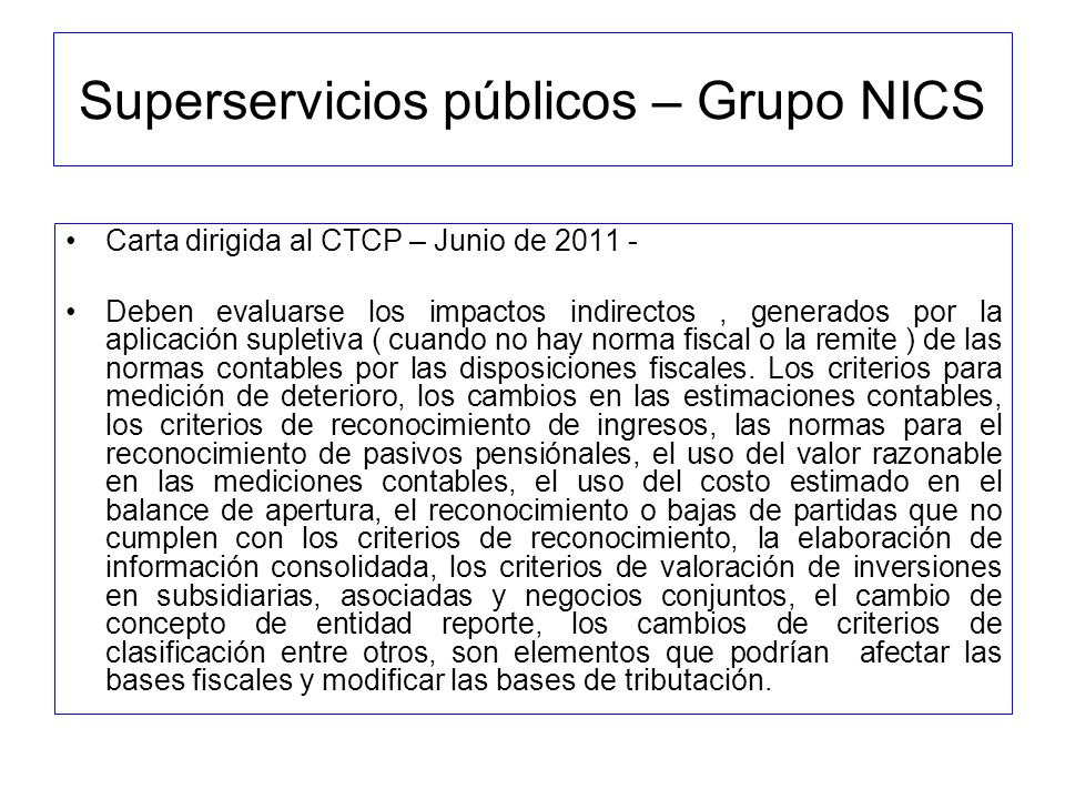 Superservicios públicos – Grupo NICS