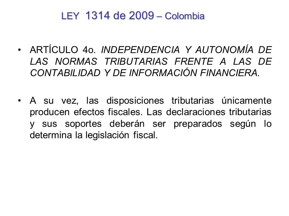 LEY 1314 de 2009 – Colombia