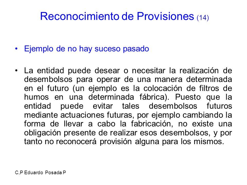 Reconocimiento de Provisiones (14)